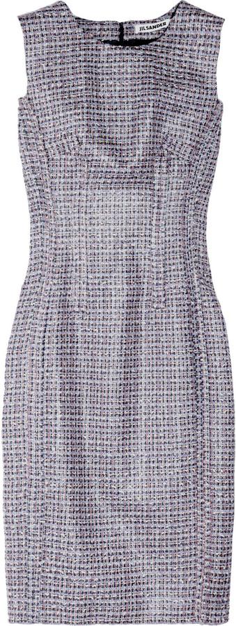 Jil Sander Loadstar inverted-seam tweed dress