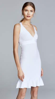 Moschino V Neck Mini Flare Dress