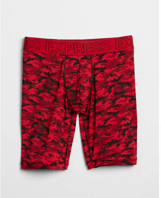 Express red camo performance extended boxer briefs
