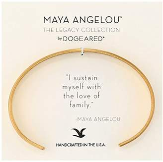 "Dogeared Maya Angelou 2.0""I Sustain Myself. Thin Engraved Cuff Bracelet"