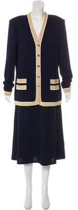 St. John Knit Midi Skirt Skirt Suit