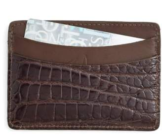 Martin Dingman 'Joseph' Genuine American Alligator Card Case