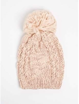Womens Winter Stitch Beanie, (Cream), One Size (Manufacturer Size: One) Dorothy Perkins