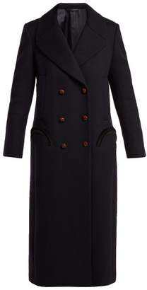 Blazé Milano Blaze Milano - Woodland Double Breasted Wool Coat - Womens - Navy