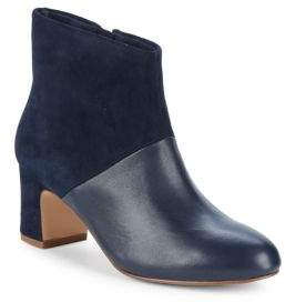 Splendid Nonn Coloblock Suede & Leather Booties/2.5""