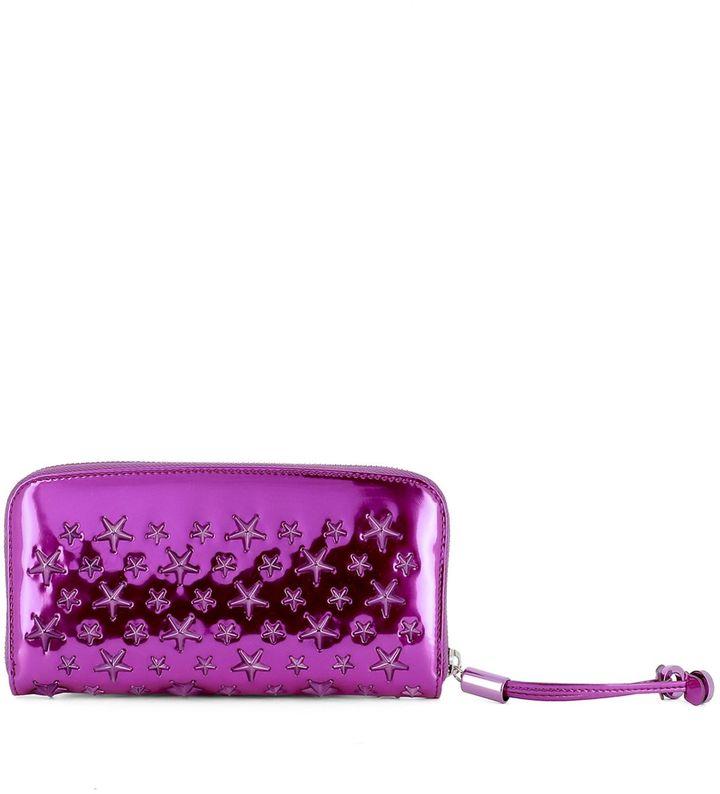Jimmy ChooFuchsia Leather Wallet