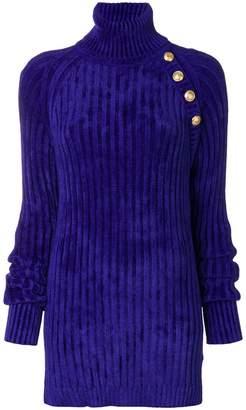 Balmain ribbed-knit dress