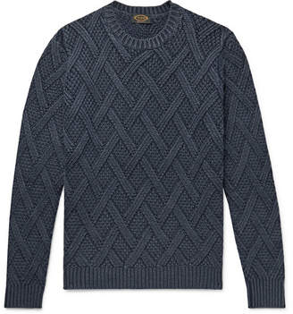 Tod's Cable-Knit Wool Sweater - Storm blue