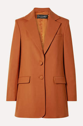 Oscar de la Renta Oversized Wool-blend Twill Blazer - Orange