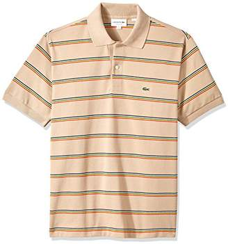 Lacoste Men's Short Sleeve Striped Pique Regular Fit Polo