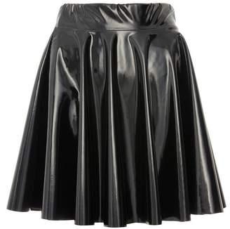 Quiz Black Vinyl Skater Skirt