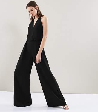 Reiss Yeva - Backless Strap Detail Jumpsuit in Black
