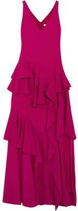 Halston Ruffled Cady Gown
