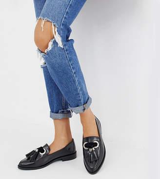 172c9a9fe58 Asos Design DESIGN Mimic leather loafer flat shoes