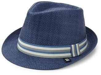 Block Headwear Men's Stripe Band Straw Trilby