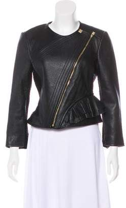 Herve Leger Mila Leather Jacket w/ Tags