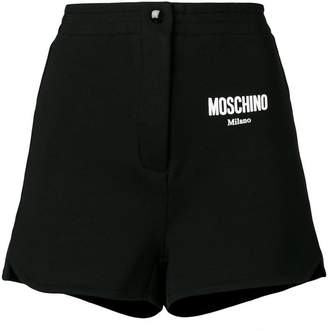 Moschino high waisted track shorts