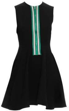 Sandro Ines Zip-Front Fit-&-Flare Dress
