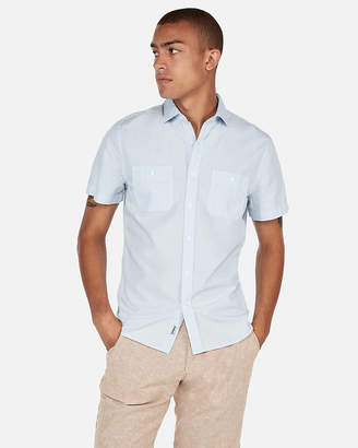 Express Solid Short Sleeve Shirt