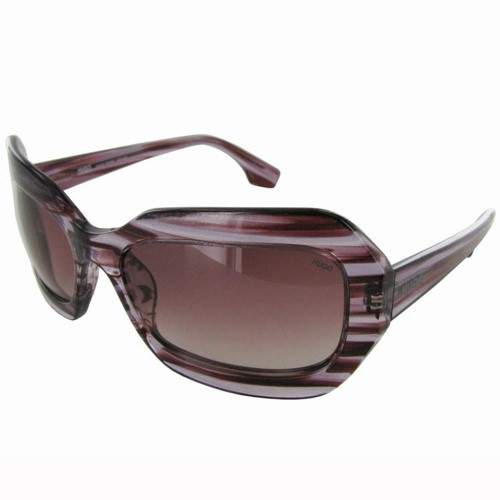 Hugo Boss Womens 'OCX 0018/S' Designer Sunglasses, Striped Violet/Fuchsia