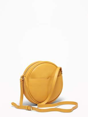 Old Navy Faux-Leather Crossbody Circle Bag for Women