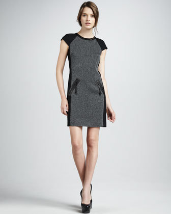 Rebecca Taylor Paneled Suiting Dress