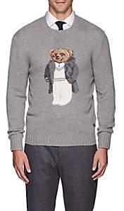 Ralph Lauren Purple Label Men's Teddy Bear Cashmere Crewneck Sweater - Light Gray