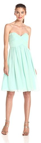 Donna Morgan Women's Strapless Sweetheart Chiffon Dress