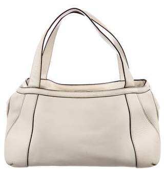 Valextra Leather Shoulder Tote