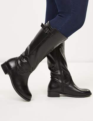 Lane Bryant Buckle Strap Riding Boot - Extra Wide Calf