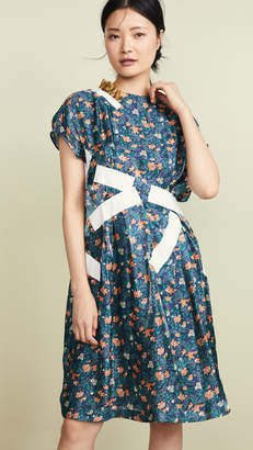 Kolor Patchwork Floral Dress