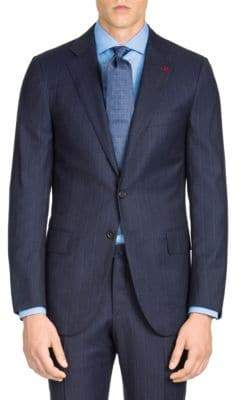 Isaia Regular-Fit Micro Stripe Wool Suit Jacket