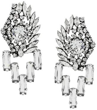 Sonia Rykiel crystal embellished earrings