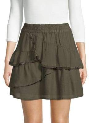 IRO Carmela Ruffled Mini Skirt