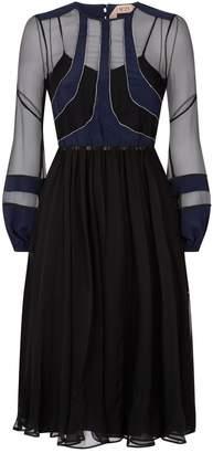 N°21 N 21 Embellished Silk Midi Dress