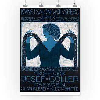 Lantern Press Sonderausstellung Josef Guller - Kunstsalon WolfsbergPoster (artist: Goller) Switzerland c. 1911 (36x54 Giclee Gallery Print, Wall Decor Travel Poster)