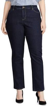 Lauren Ralph Lauren Plus Slimming Classic Straight-Leg Jeans in Rinse