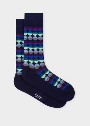 Paul Smith Men's Navy 'Sunset Spot' Socks