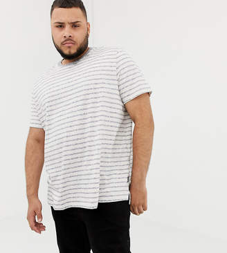 Burton Menswear Big & Tall t-shirt in ecru stripe