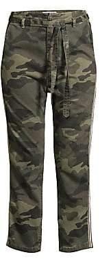 Sundry Women's L'Automne Drawstring Belt Camo Pants