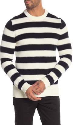 Theory Crew Neck Striped Sweater