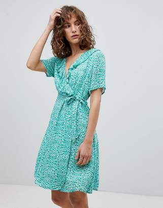 Suncoo Printed Wrap Dress
