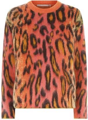 Stella McCartney Neon Leopard Print Sweater