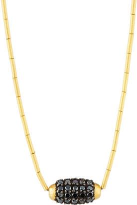 Gurhan Single Black Diamond Cocoon Necklace