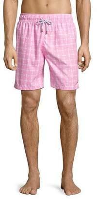 Retromarine Guillauche Benjamin Printed Swim Trunks, Pink $155 thestylecure.com
