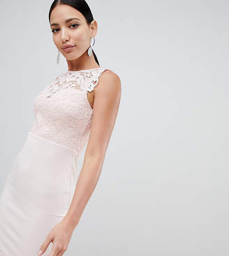 Lipsy lace top bodycon midi dress