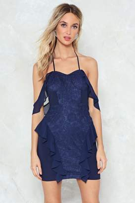 Nasty Gal Don't Sleeve Me This Way Cold Shoulder Dress