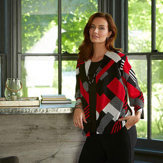 Alfred Dunner Sutton Place 3/4 Sleeve Layered Top