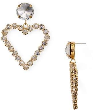 Aqua Crystal Heart Drop Earrings - 100% Exclusive