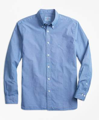 Brooks Brothers Micro-Gingham End-On-End Broadcloth Sport Shirt